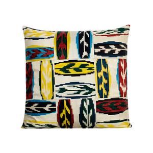 Medium yastik by rifat ozbek   ikat patchwork multi cushion