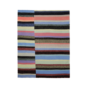 Medium sssense multicolor cashmere striped super soft blanket