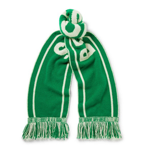 Medium tes   nba boston celtics fringed intarsia cashmere scarf