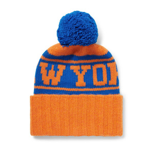 Medium tes   nba new york knicks intarsia bobble hat