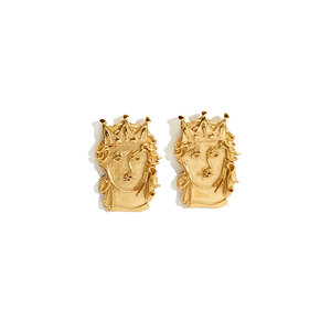 Medium salacia goddess clip on earrings