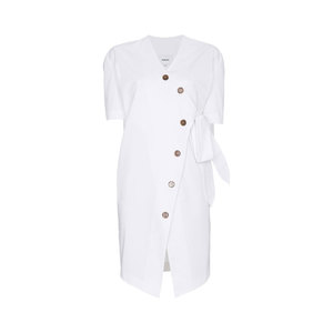 Medium shortsleeved wrap dress with buttons