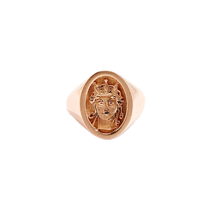 Medium salacia signet ring rose gold