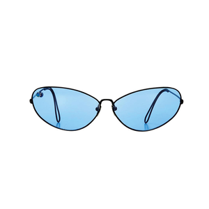 Medium ello black   blue sunglasses
