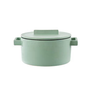 Medium the conran shop terra.cotto cast iron conical sauce pot mint 23.5cm