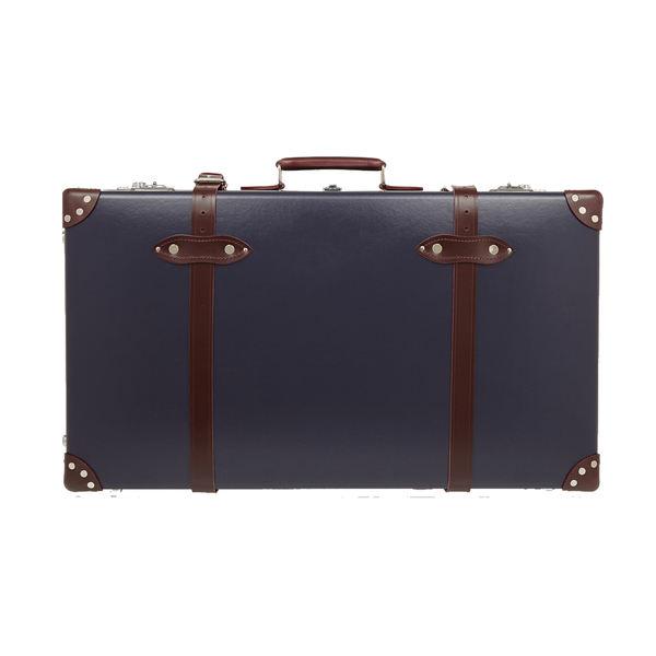 Large globe trotter centenary 30 leather trimmed fiberboard travel trolley