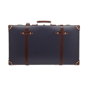 Medium globe trotter centenary 30 leather trimmed fiberboard travel trolley