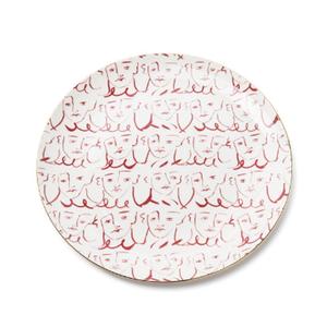 Medium emporiom sirenuse luke s faces dinner plate red