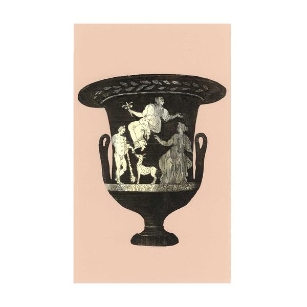 Bridie Hall Ancient Roman Vase Print Pink Semaine