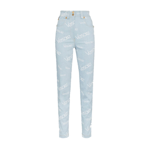 Medium light blue all over print jeans