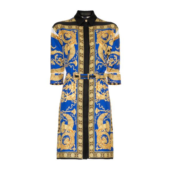2952a9649 Versace - Pillow Talk Print Silk Shirt Dress - Semaine