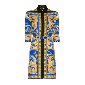 Medium versace pillow talk print silk shirt dress