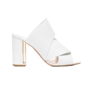 Medium white nini 90 leather sandals