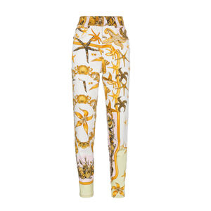 Medium high rise jeans with marine print