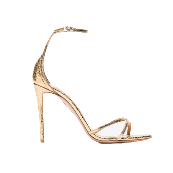 Large gold purist 105 metallic leather sandals