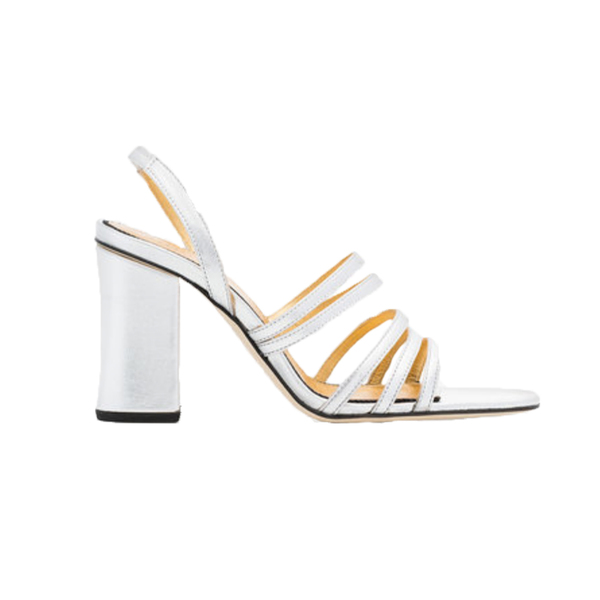 Large silver integra 90 leather sandals