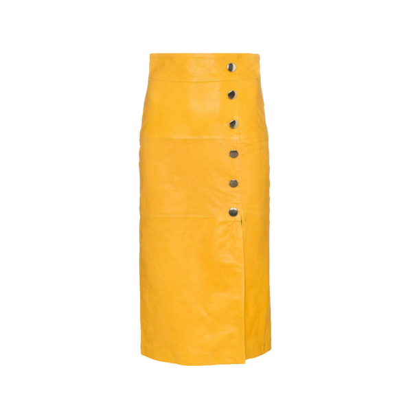 Large skiim high waisted leather pencil skirt