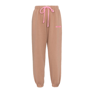 Medium mid rise cotton blend track pants