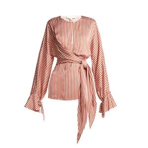 Medium jonathan simkhai stripe twist front shirt