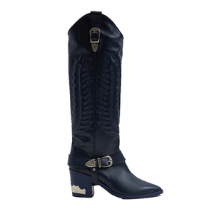 Medium toga pulla western boot in blue grey.