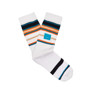 Medium acne striped stretch cotton socks