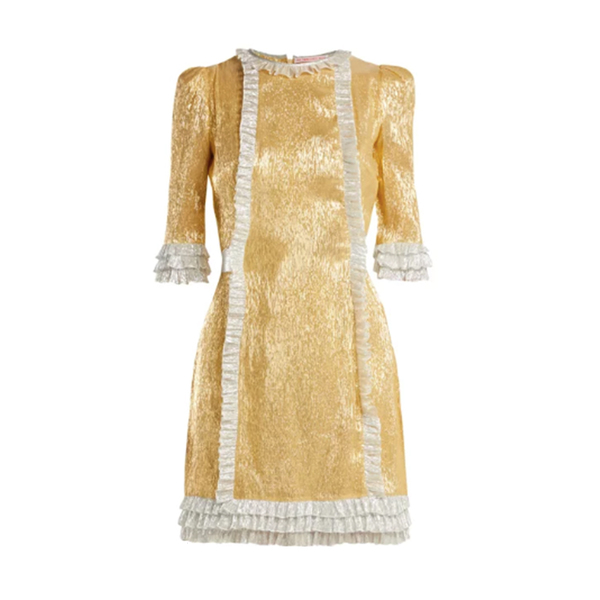 3d95d16c The Vampire's Wife - Cate metallic silk-blend dress - Semaine