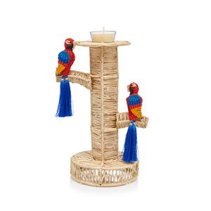 Medium mercedes salazar guacamayas raffia candlestick