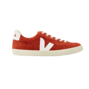 Medium esplar leather trimmed suede sneakers