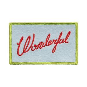 Medium wonderful jacket badge