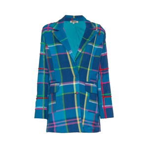 Medium all things mochi long sleeve check blazer jacket