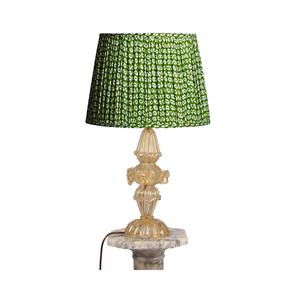 Medium ceraudo gold murano table lamp