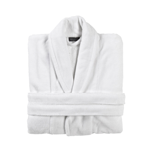 Medium christy super soft robe   white