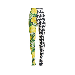Medium richard quinn  flora and houndstooth print high rise leggings