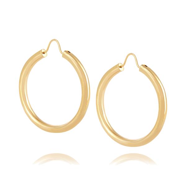Large theodaroa warre gypsy gold plated hoop earrings