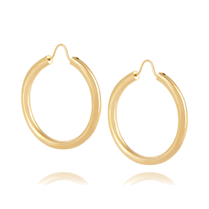 Medium theodaroa warre gypsy gold plated hoop earrings