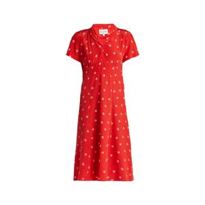 Medium hvn  morgan dice print silk midi dress