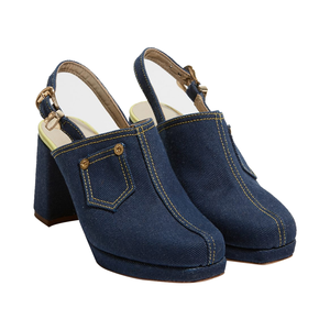 Medium denim shoe