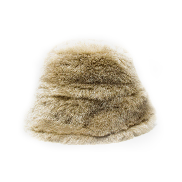 43d388472e7 Clyde - Faux Fur Bucket Hat Ecru - Semaine