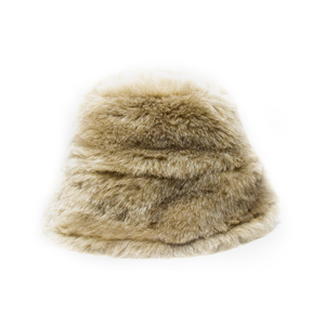 Medium clyde faux fur bucket hat ecru