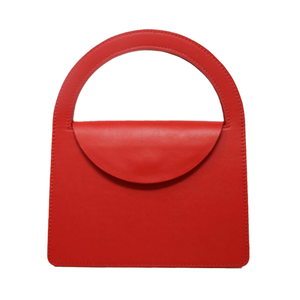 Medium building block lady purse tomato red