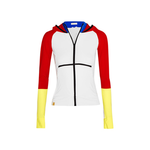 Medium monreal london color block stretch jersey hooded jacket