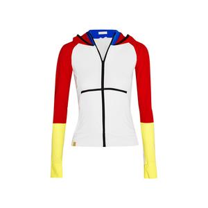 Medium monreal london color block stretch jersey hooded jacket