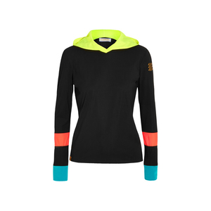 Medium monreal london color block stretch jersey hooded top