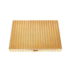 Medium cartier 18k gold rope cigarette case