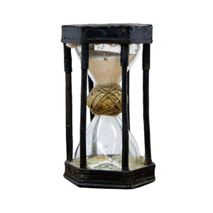 Medium extremely rare german iron caged hourglass  circa 1720