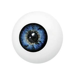Medium prosthetic artificial eye blue