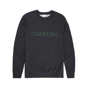 Medium sunspel x perfumer h cotton loopback sweatshirt in charcoal melange