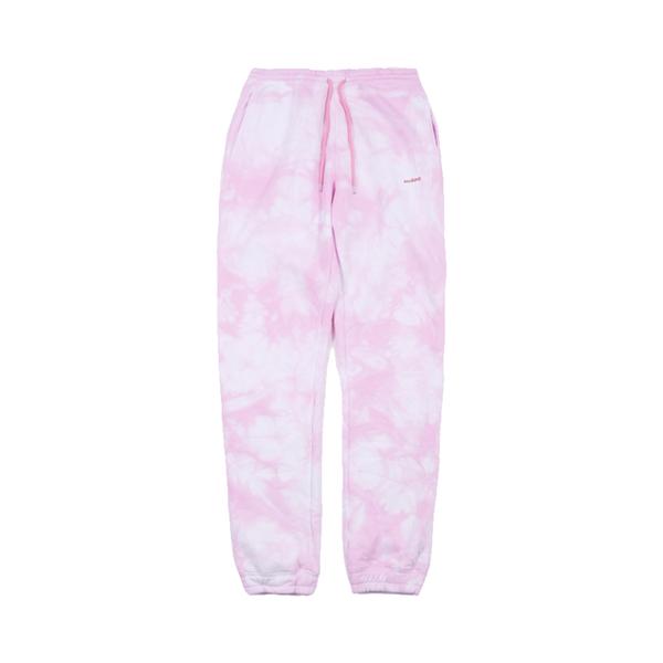 Large soulland dent drawstring sweatpant   pink tie dye