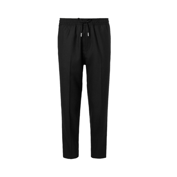 Large mr p slim fit wool twill drawstring trousers