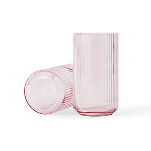 Medium lyngby 15cm fluted glass vase truva